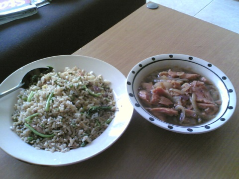 fried rice + luncheon meat